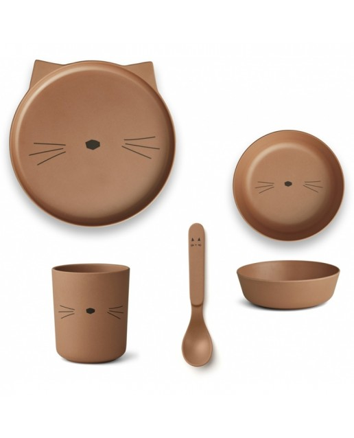 Bamboo Set | Cat Terracotta