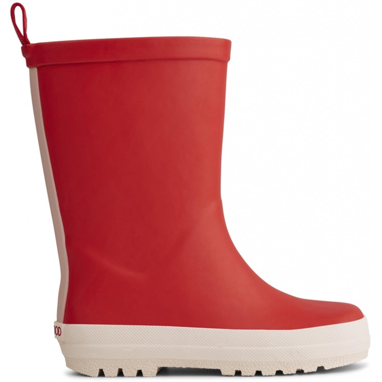 River Rain Boot | Apple red/creme de la creme mix