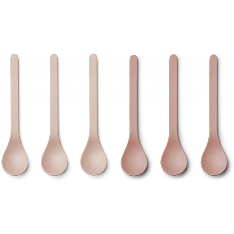 Bamboo Spoon Etsu - 6 Pack | Coral Blush Mix