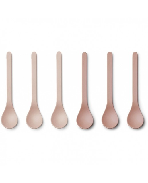 Bamboo Spoon Etsu - 6 Pack | Coral Blush Mix