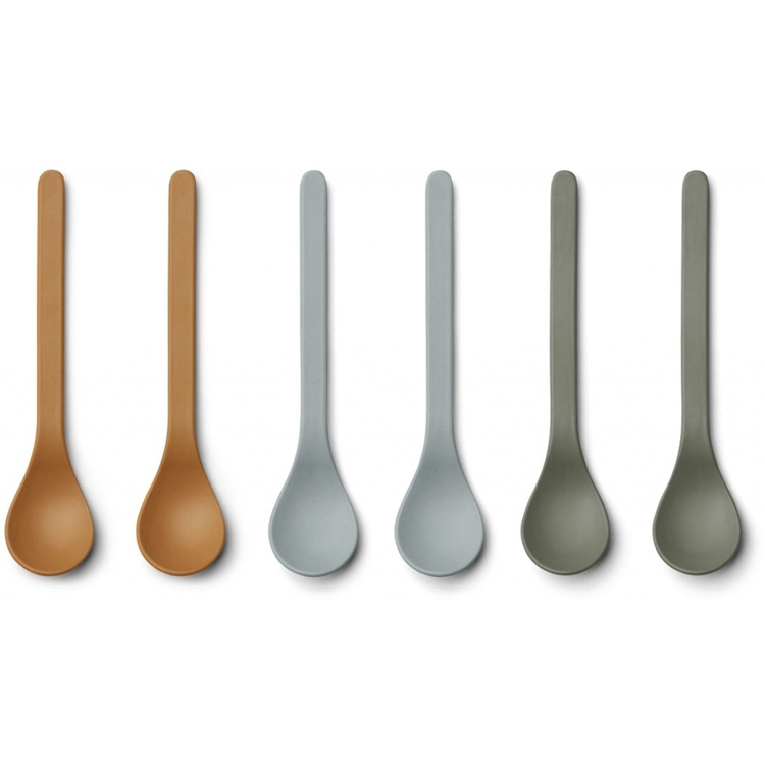 Bamboo Spoon Etsu - 6 Pack |Blue Multi Mix