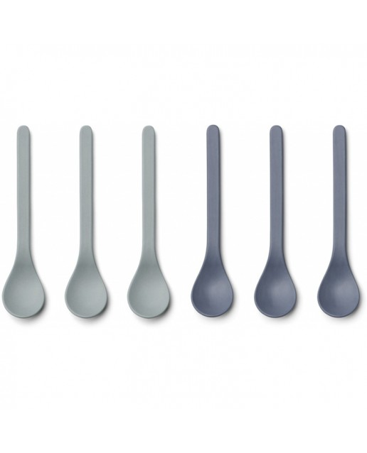 Bamboo Spoon Etsu - 6 Pack |Blue Mix