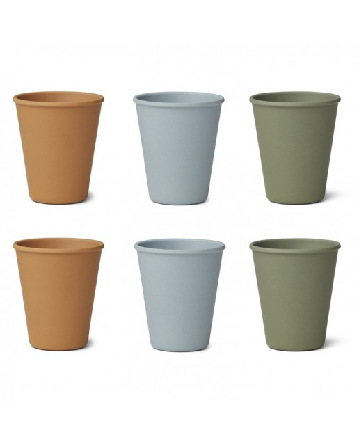 Bamboo Cup Gertud - 6 Pack | Blue Multi Mix