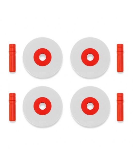 MODU 4 x Foam Wheels | Red