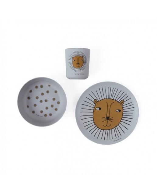 Lion Bamboo Tableware Set