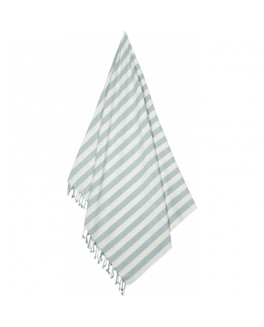 Mona beach towel | Y/D stripe: Sea blue/creme de la creme