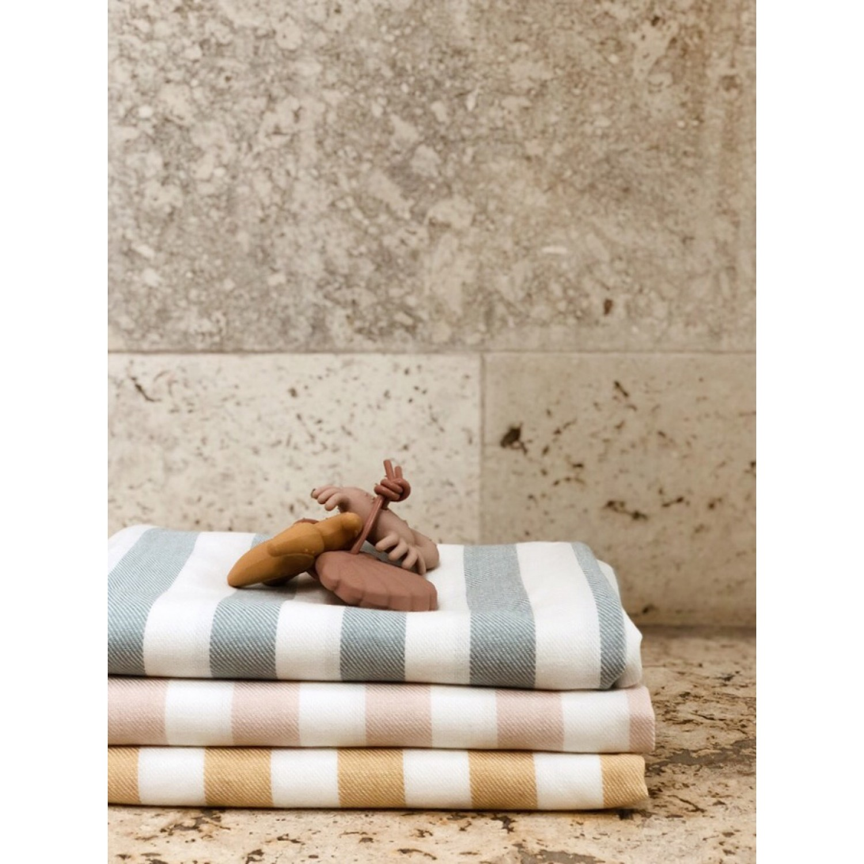 Mona beach towel | Y/D stripe: Sorbet rose/creme de la creme