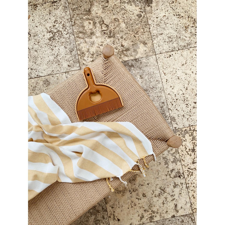 Mona beach towel | Y/D stripe: Yellow mellow/creme de la creme