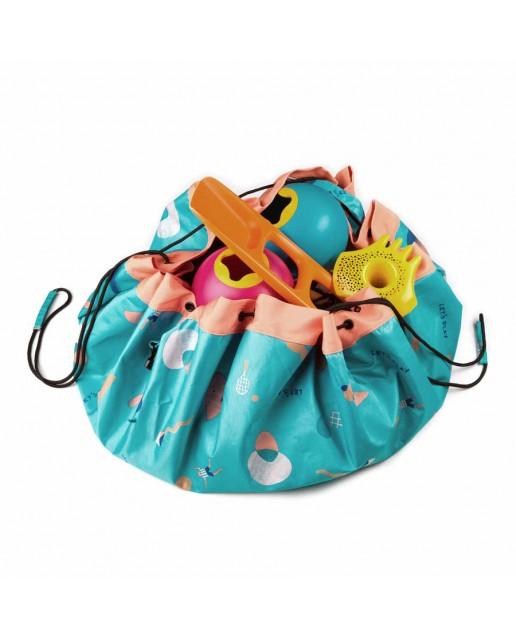 Outdoor storage bag play