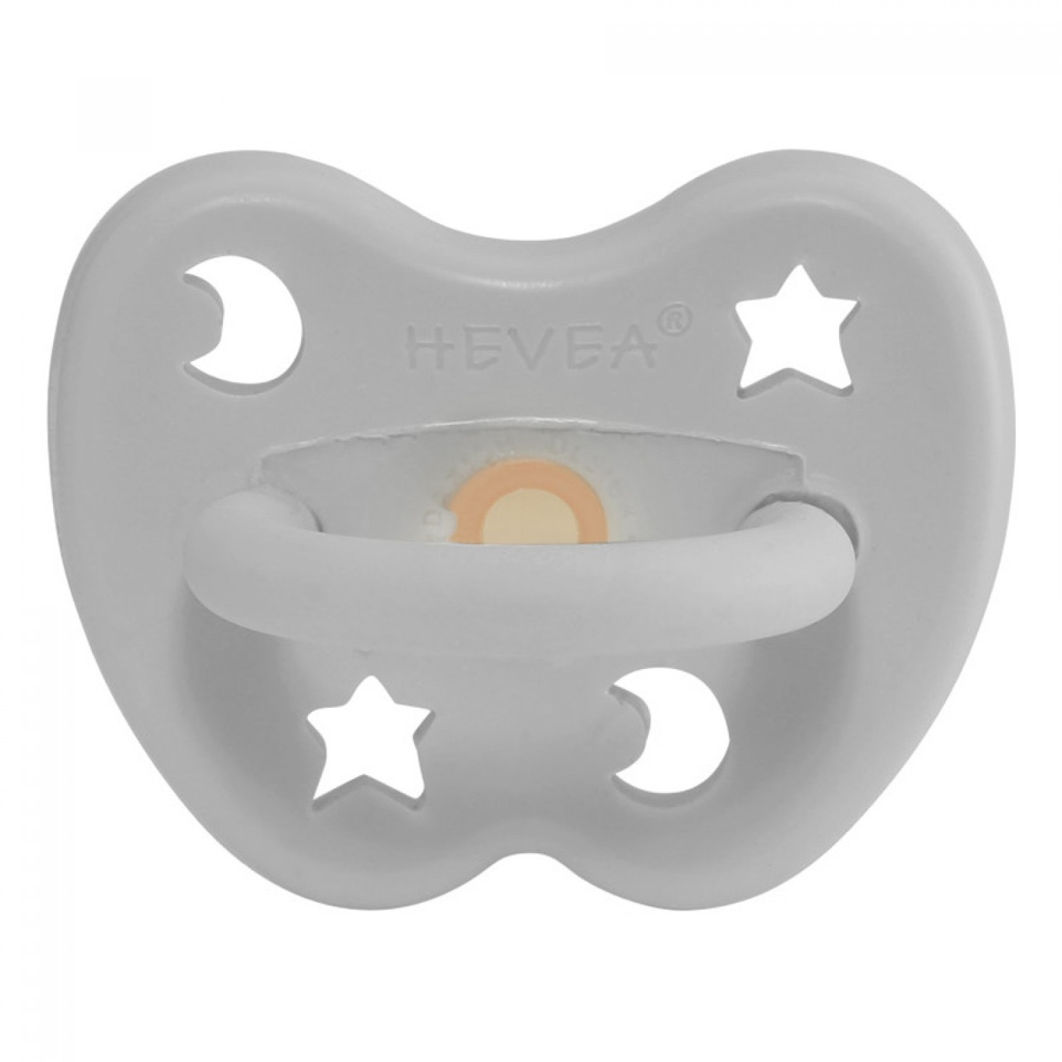 HEVEA Round Pacifier | Gorgeous Grey 3-36 Months