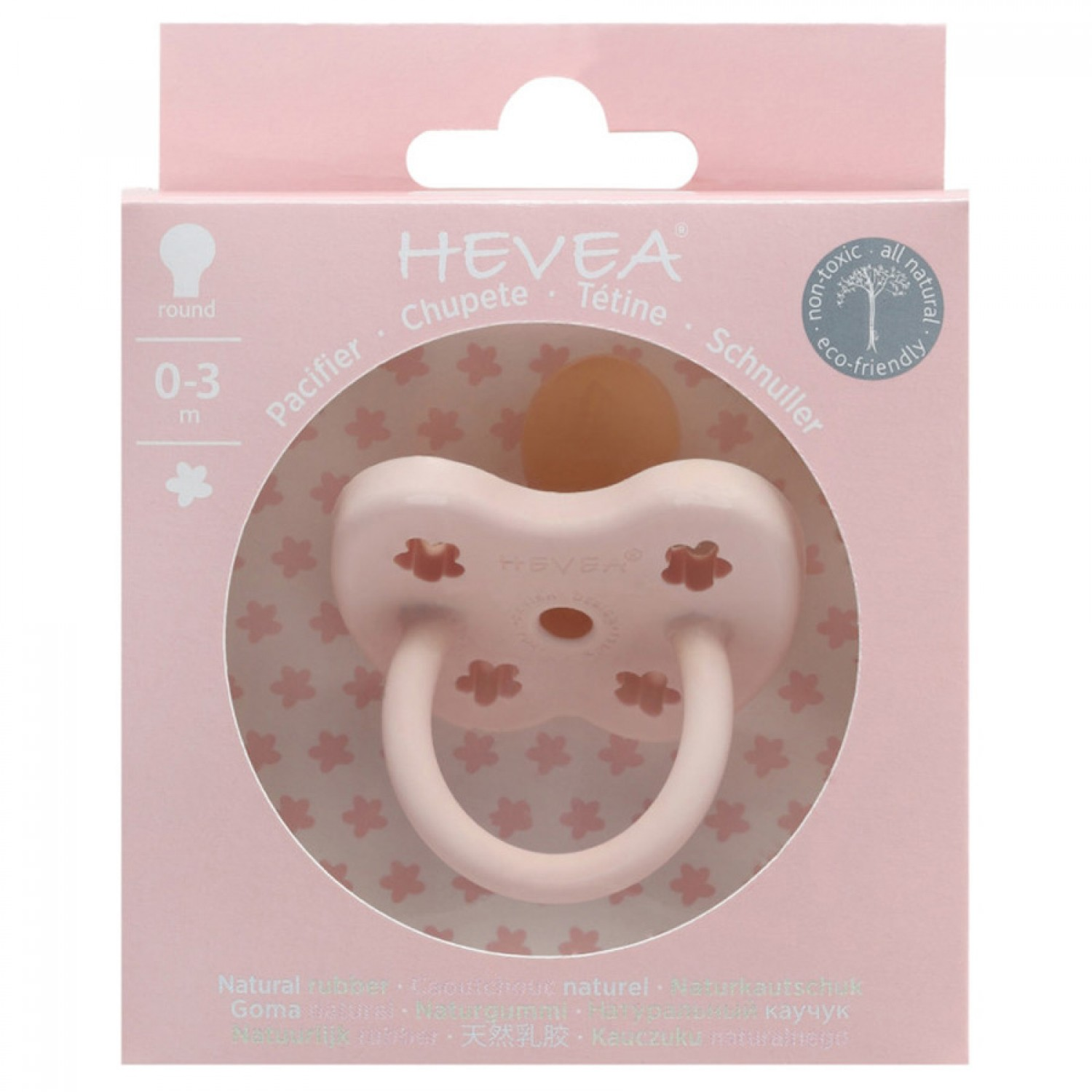 HEVEA Orhodontic Pacifier | Powder Pink 0-3 Months
