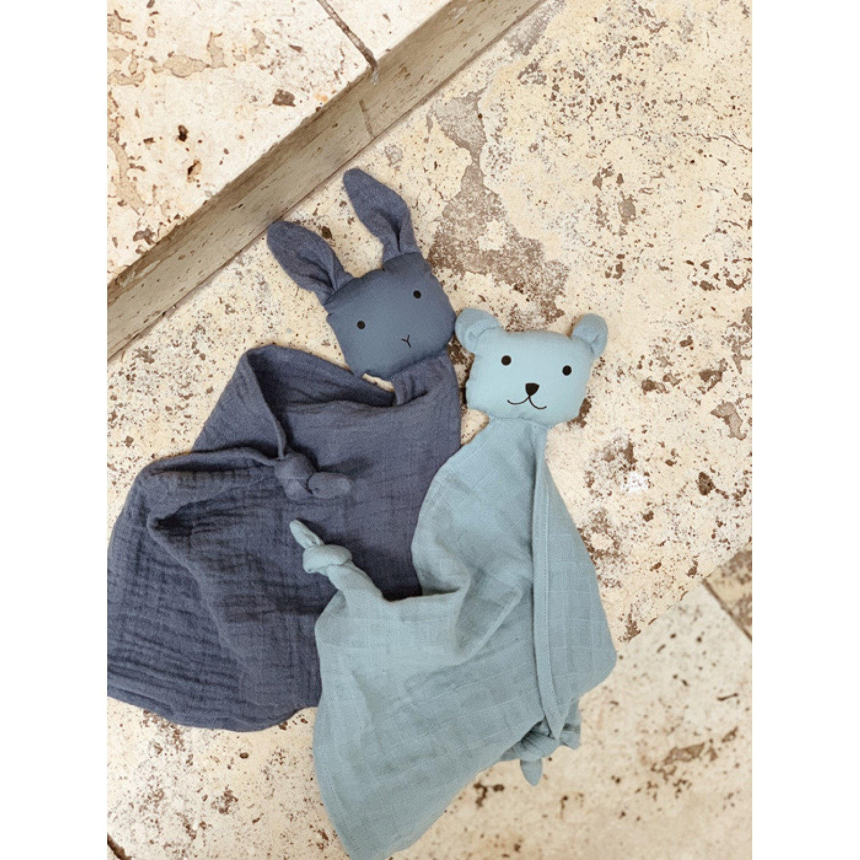 Yoko Mini Cuddle Cloth 2 Pack - Blue mix