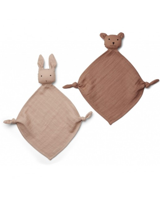 Yoko Mini Cuddle Cloth 2 Pack - Rose mix