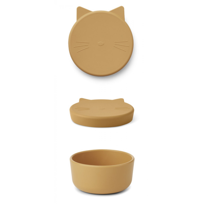 Cornelius Snack Box Medium - Cat yellow mellow
