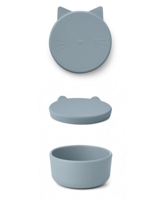 Cornelius Snack Box Medium - Cat sea blue