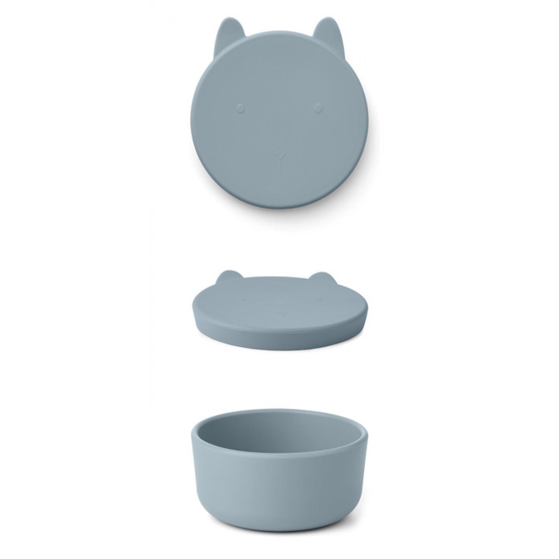 Charlot Snack Box Large | Rabbit sea blue