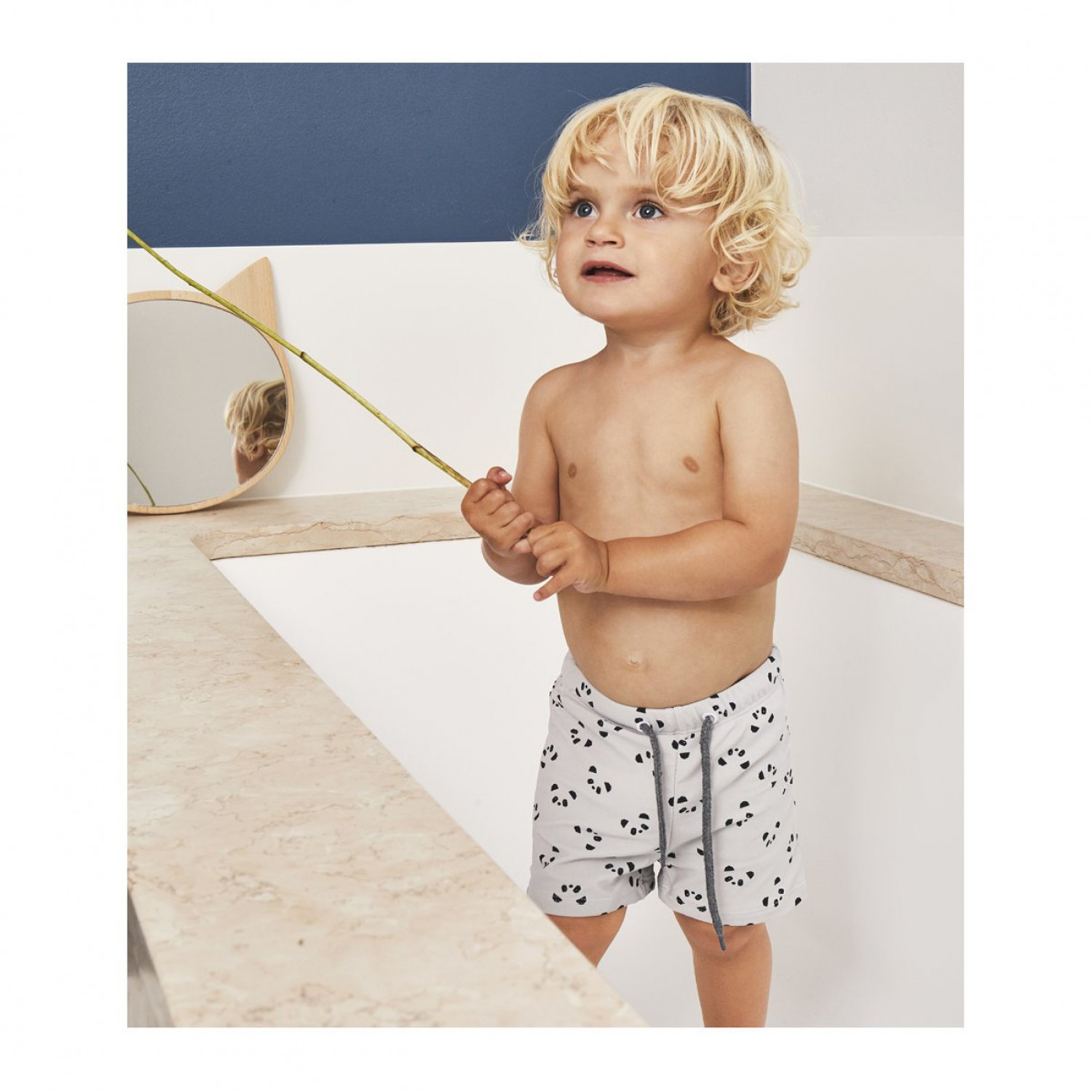 OTTO SWIM PANTS - PANDA DUMBO GREY