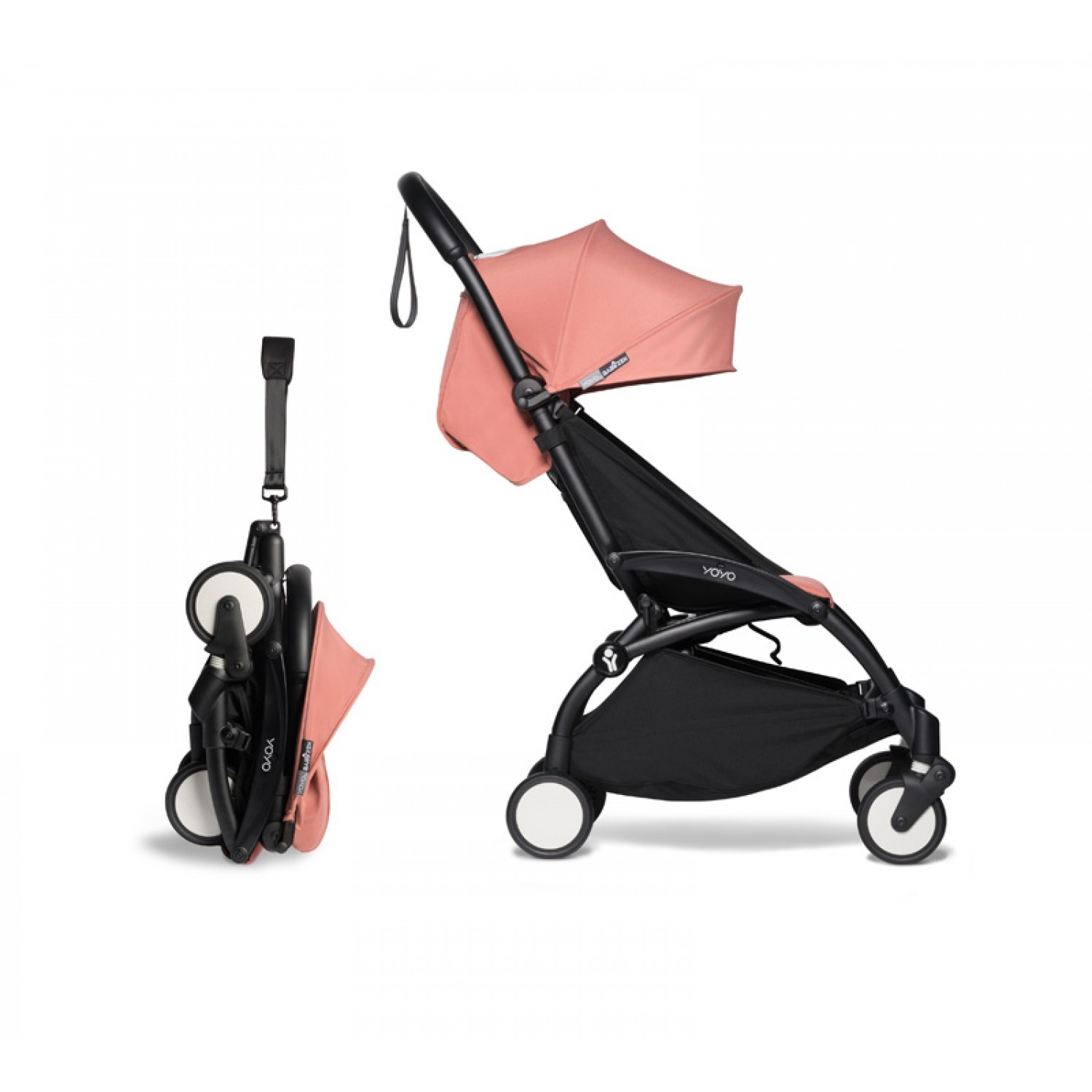 Complete BABYZEN stroller YOYO2  0+ and 6+ | Black Chassis Ginger