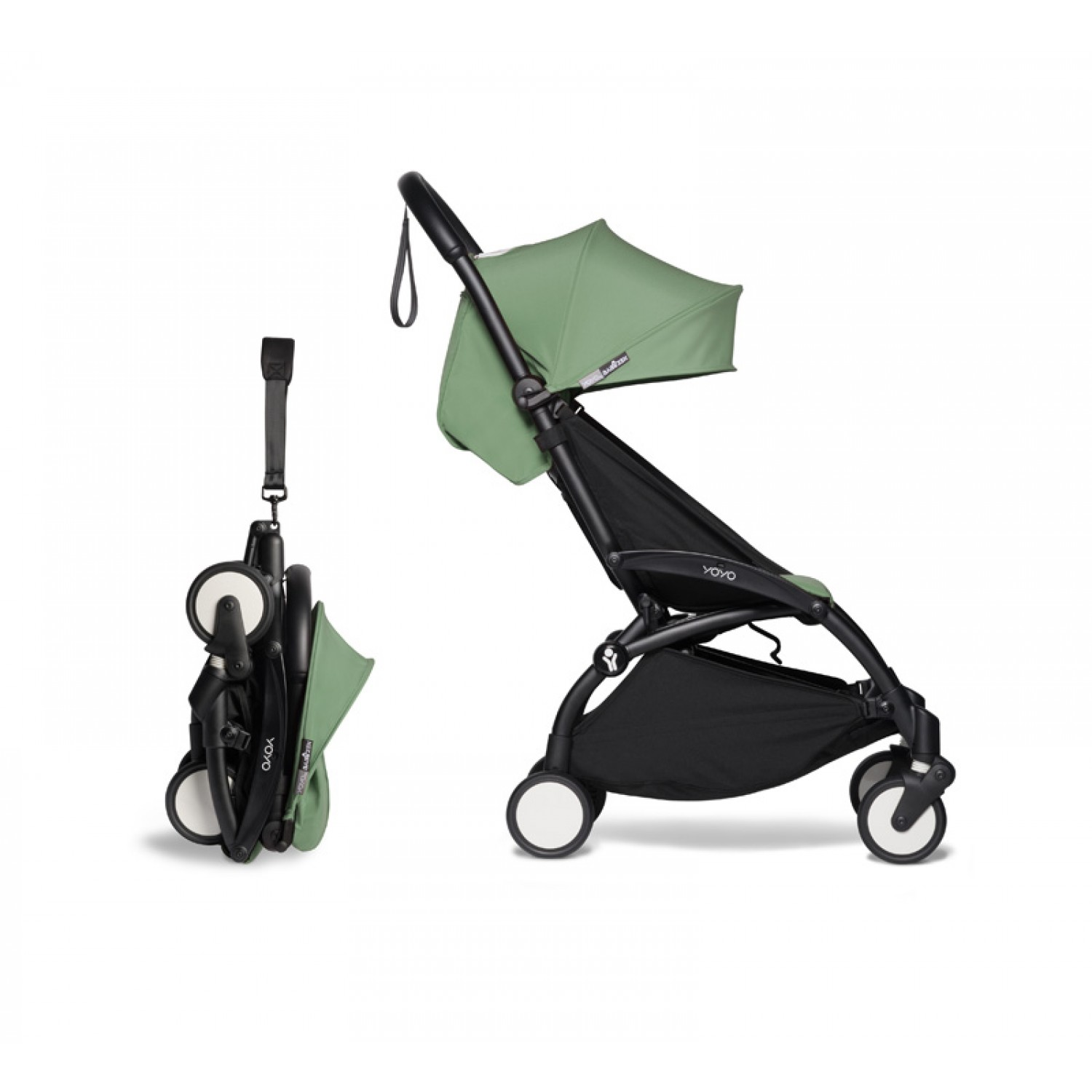 Complete BABYZEN stroller YOYO2  0+ and 6+ | Black Chassis Peppermint