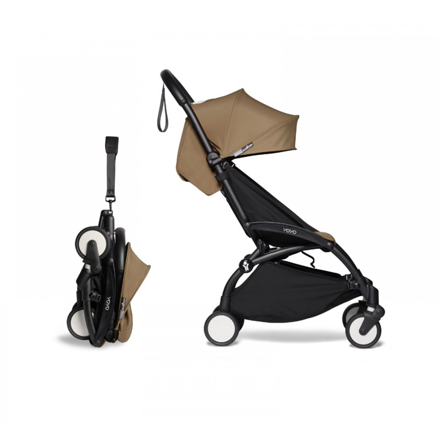 Complete BABYZEN stroller YOYO2  0+ and 6+ | Black Chassis Toffee