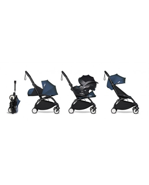 All-in-one BABYZEN stroller YOYO2 0+, car seat and 6+ |  Black Chassis Air France