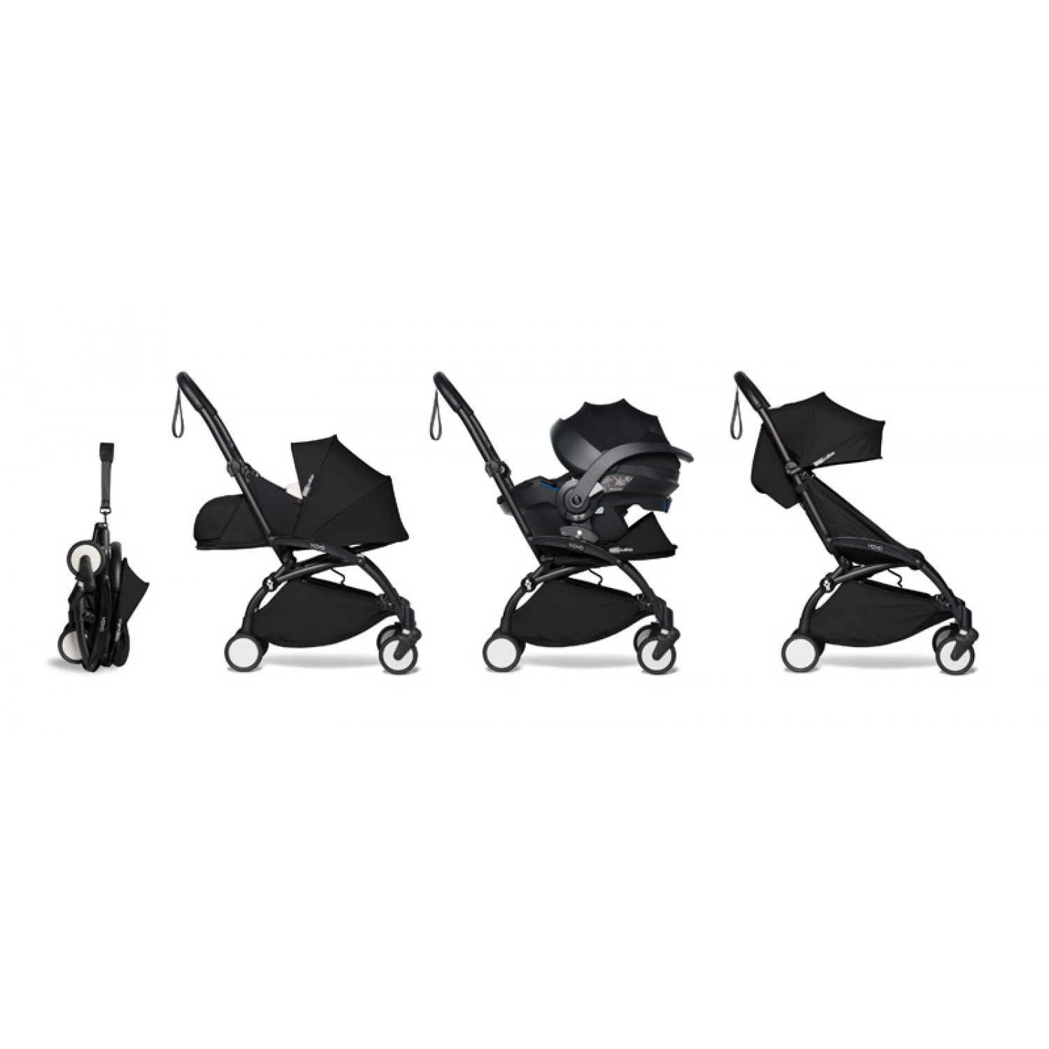 All-in-one BABYZEN stroller YOYO2 0+, car seat and 6+  | Black Chassis Black