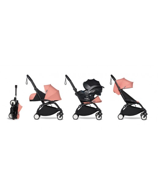 All-in-one BABYZEN stroller YOYO2 0+, car seat and 6+  | Black Chassis Ginger