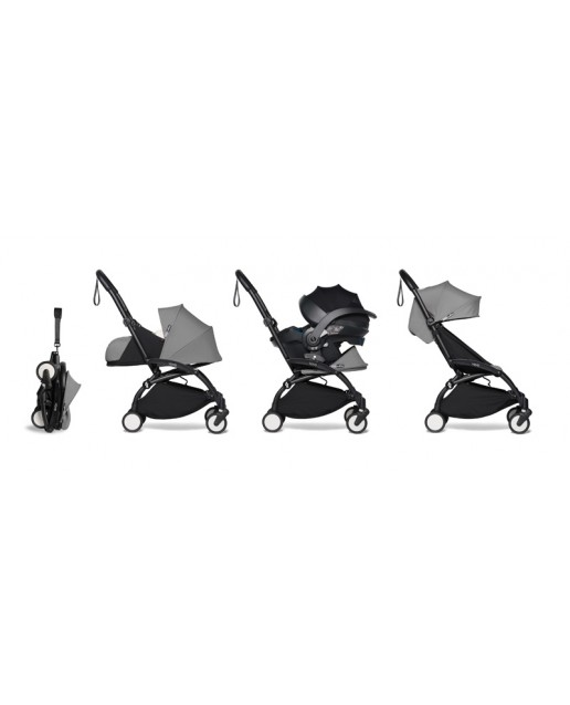 All-in-one BABYZEN stroller YOYO2 0+, car seat and 6+ | Black Chassis Grey