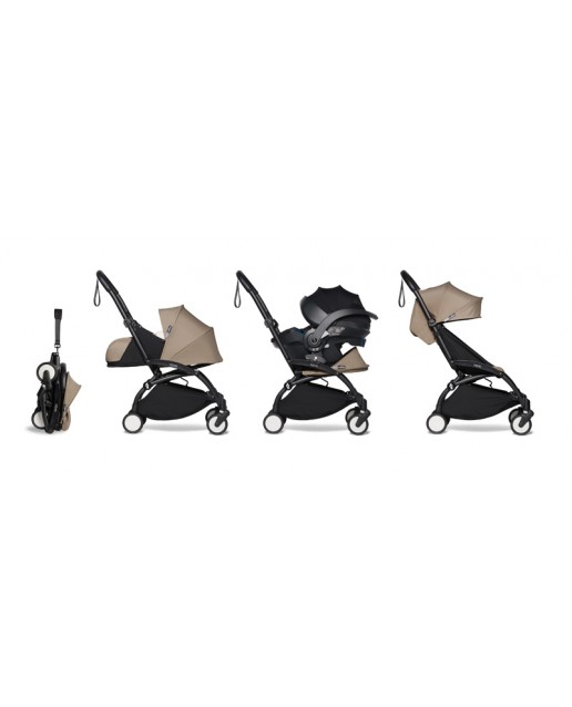 All-in-one BABYZEN stroller YOYO2 0+, car seat and 6+  | Black Chassis Toffee
