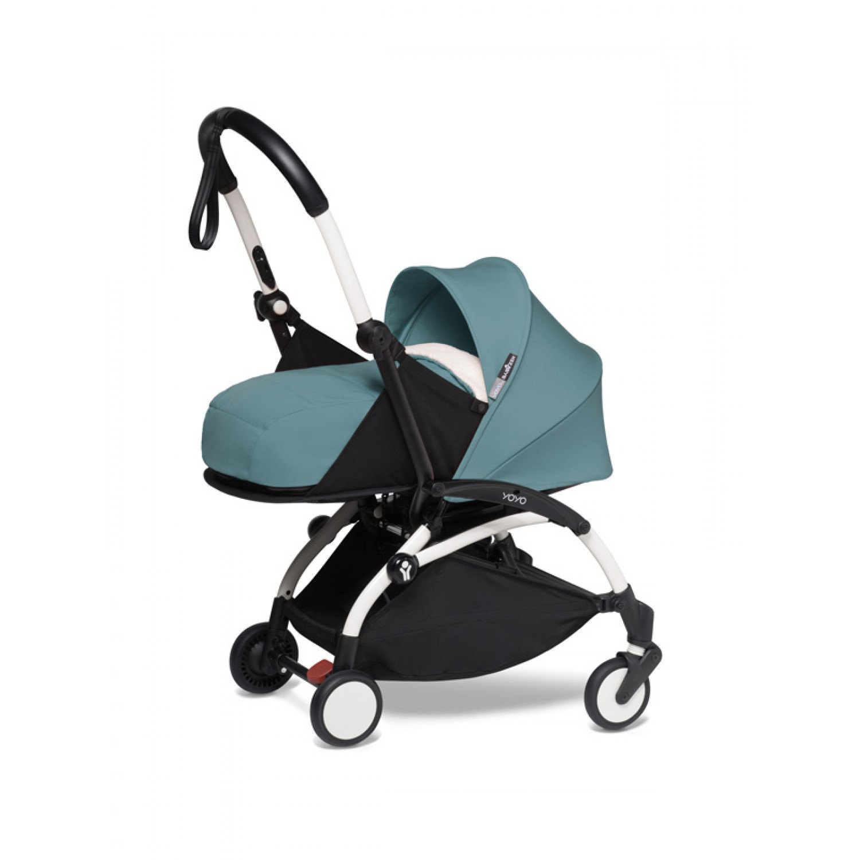 BABYZEN stroller YOYO2 0+ | White Chassis Aqua