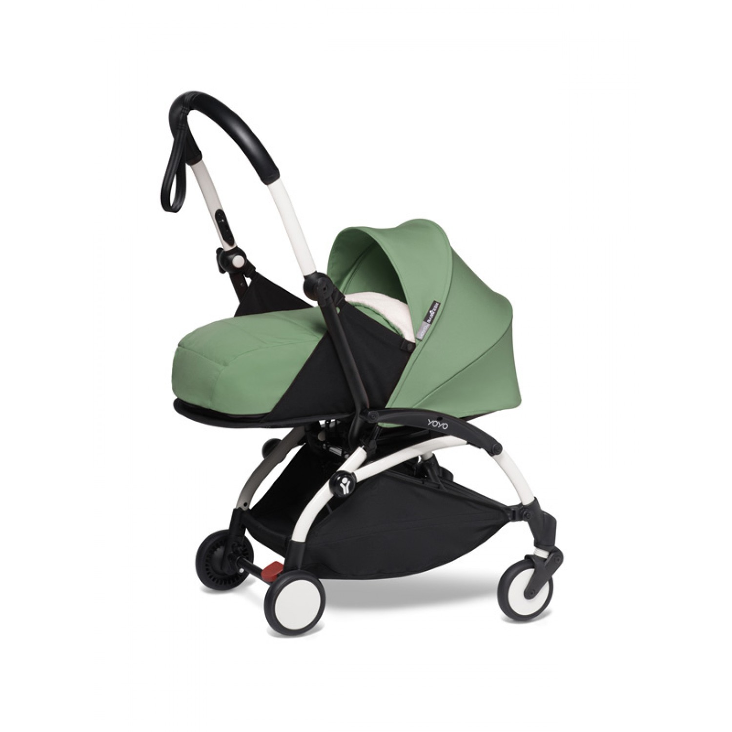 Complete BABYZEN stroller YOYO2  0+ and 6+ | White Chassis Peppermint