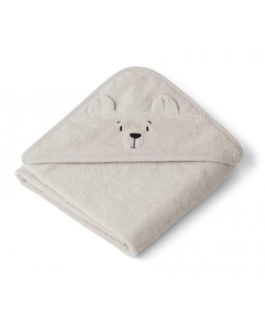 Albert Hooded Baby Towel | Polar Bear Sandy