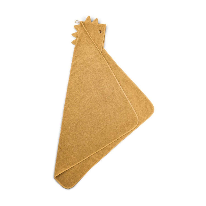 Albert Hooded Baby Towel |  Dino yellow mellow