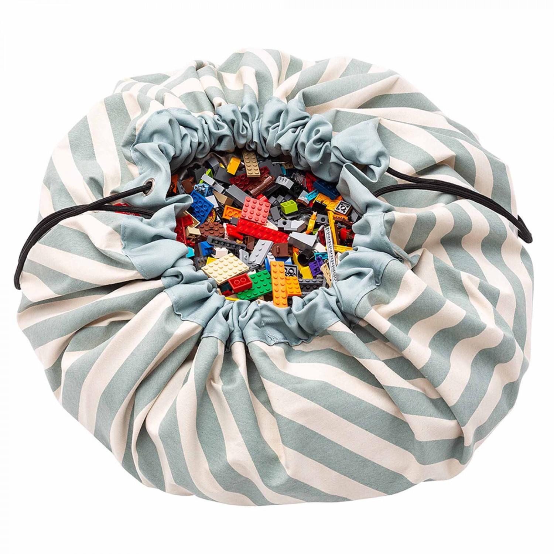 Stripes Green toy storage bag