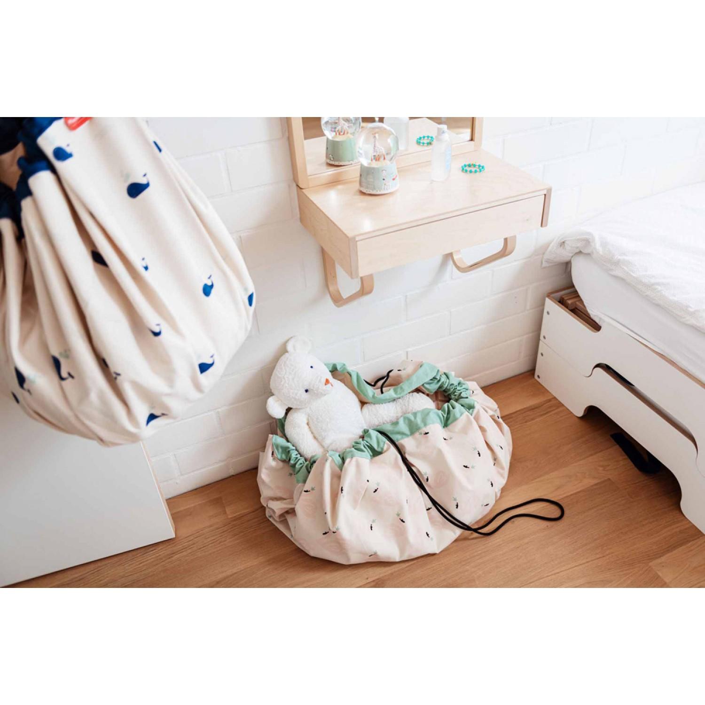 Whale toy storage bag