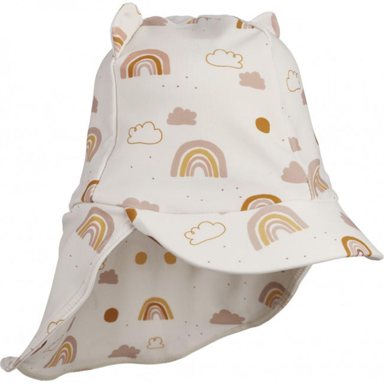 Senia Sun Hat | Rainbow love sandy