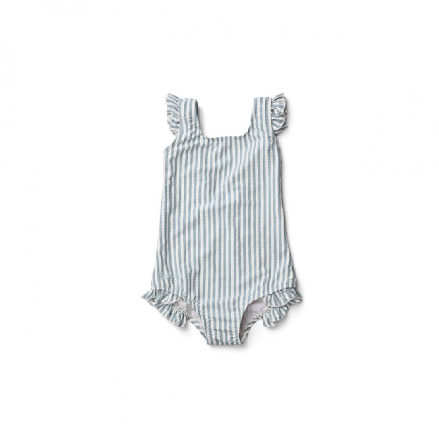 Tanna Swimsuit - Y/D stripe: Sea blue/white