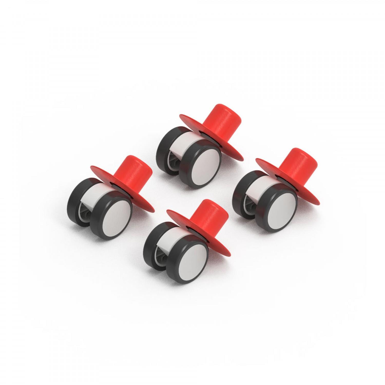 MODU 4 x Caster Wheels Red