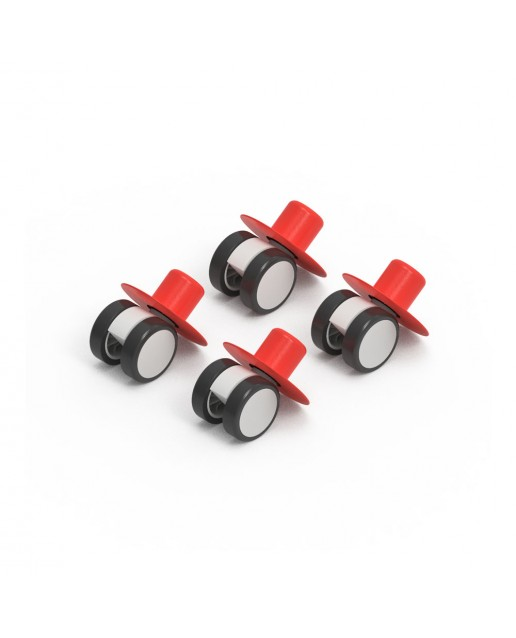 MODU 4 x Caster Wheels Red