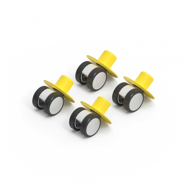 MODU 4 x Caster Wheels Yellow