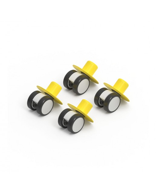 MODU 4 x Caster Wheels Yellow