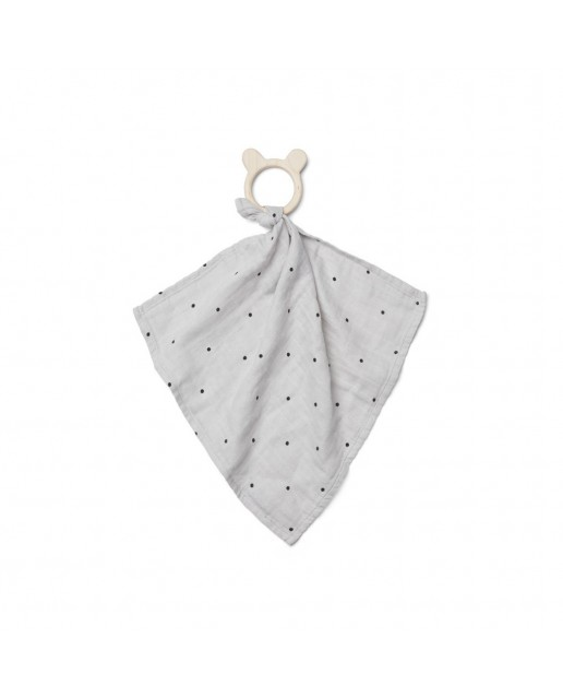 Dines Teether Cuddle | Classic Dot Dumbo Grey