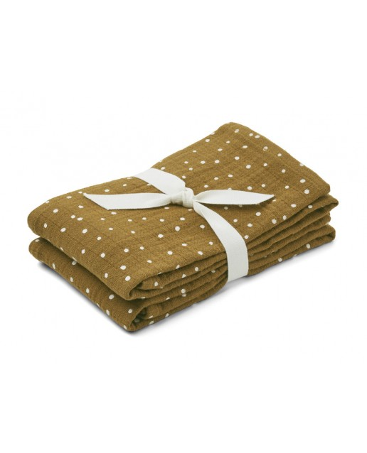 Lewis Muslin Cloth 2 Pack   Confetti olive
