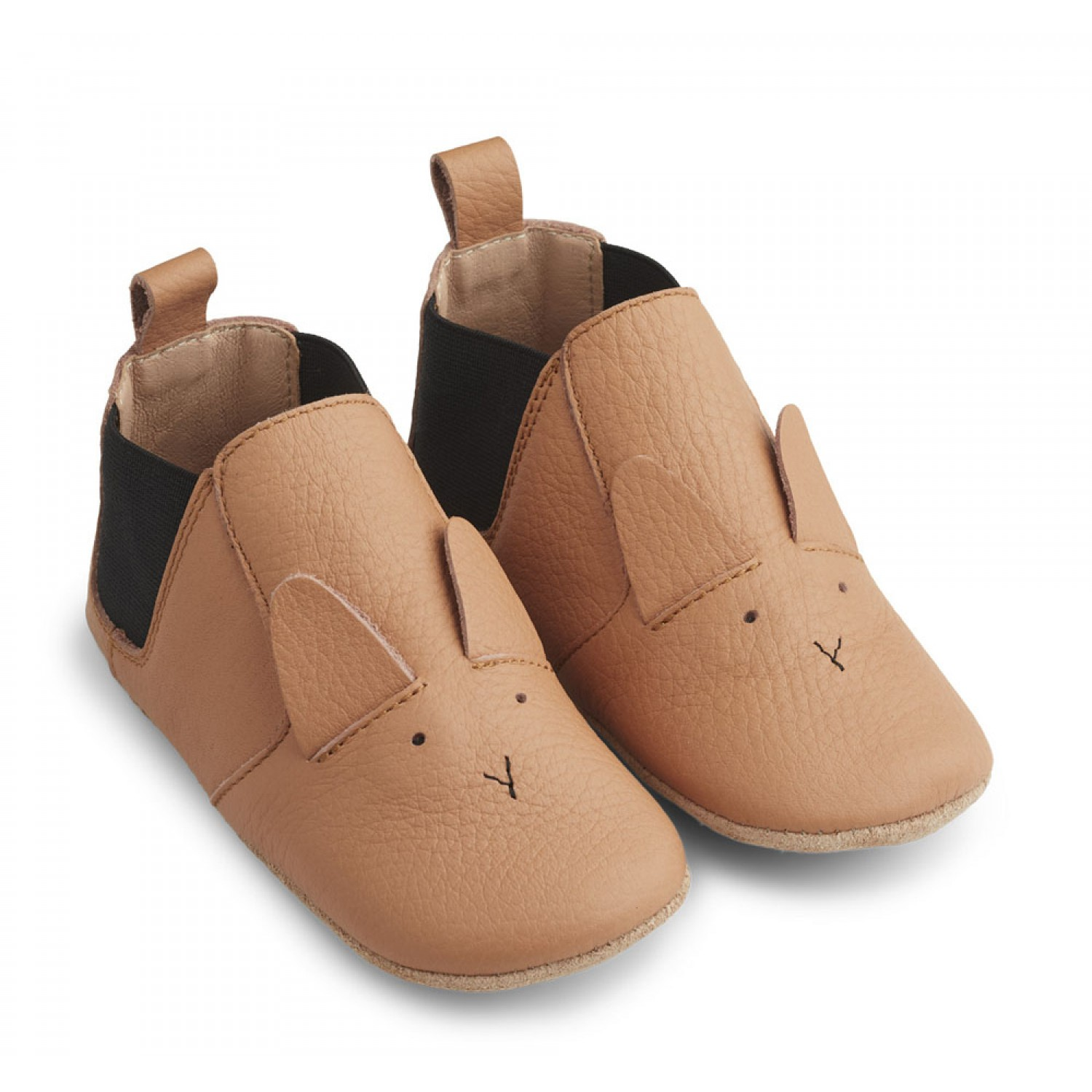 Edith Leather Slippers | Rabbit tuscany rose