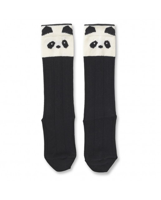 SOFIA COTTON KNEE SOCKS - PANDA CREME DE LA CRÈME - 2 PACK