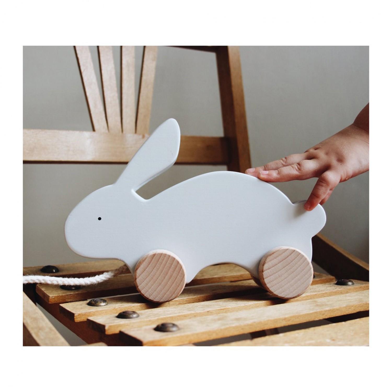 Abby / Pull Along Toy | Rabbit dumbo grey