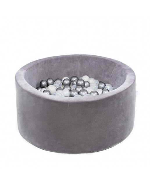 Misioo® Pool with balls Gray Velvet Collection