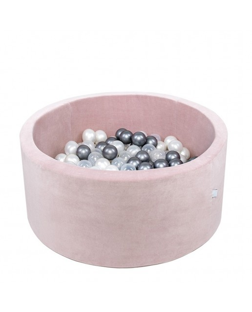 Misioo® Pool with balls Light Pink Velvet Collection