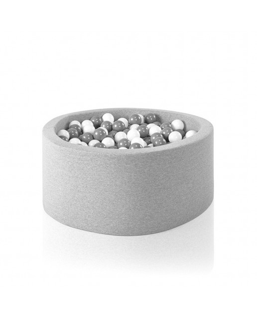 Misioo® Swimming pool with balls Light Gray Basic