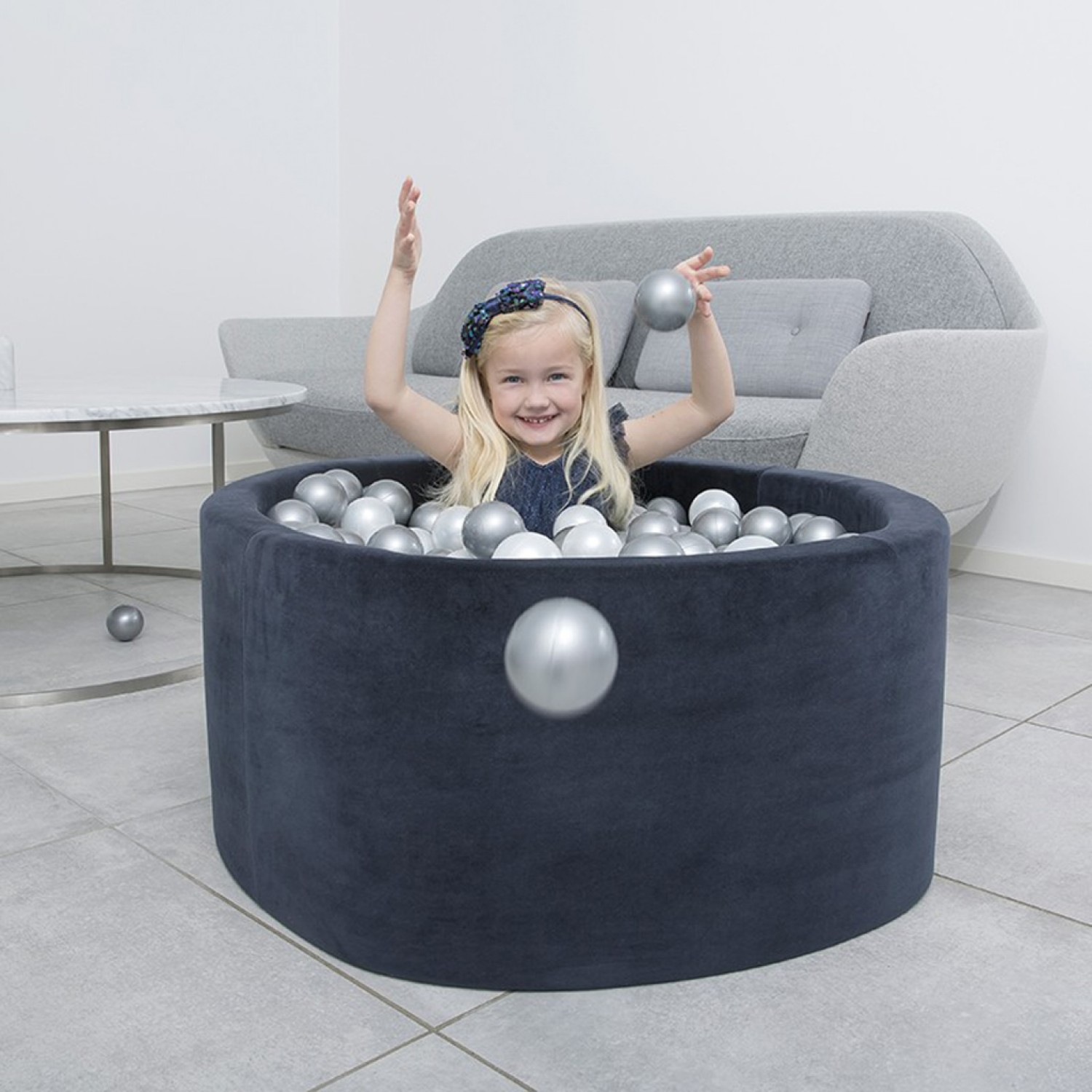 Misioo® Swimming pool with Navy Blue balls